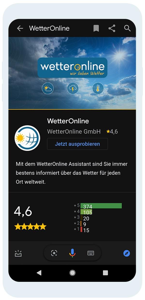 WetterOnline für Android