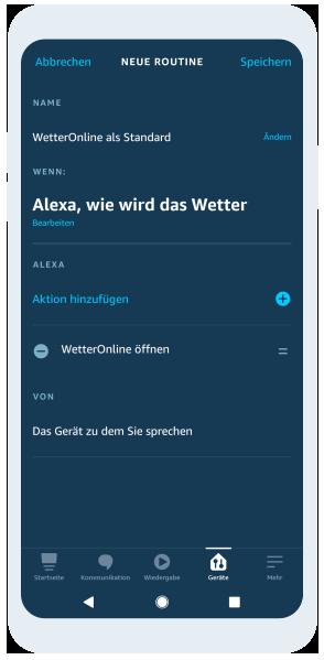 WetterOnline für Amazon Alexa als Standard einrichten