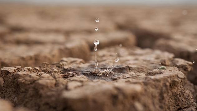 Trockener Erdboden