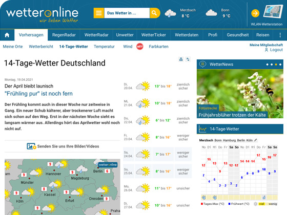 14-Tage-Wetter