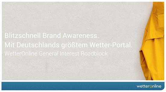Werbelösungen - General Interest Roadblock